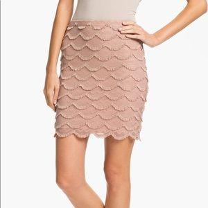 Sanctuary beige fringe skirt